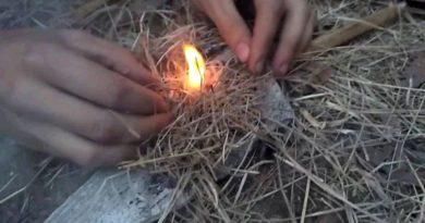 Как добыть огонь в сыром лесу
