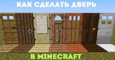 дверь в майнкрафт